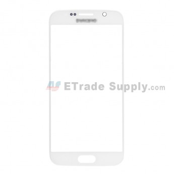 For Samsung Galaxy S6 Samsung-G920/G920A/G920P/G920R4/G920T/G920F/G920V Glass Lens Replacement - White - With Logo - Grade S+