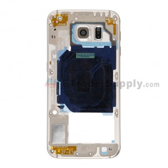 For Samsung Galaxy S6 SM-G920I Rear Housing Replacement - Gold - Grade S+