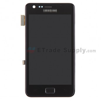 For Samsung Galaxy S II i9100 LCD Assembly with Front Housing Replacement (No Small Parts) - Black - With Logo - Grade S+
