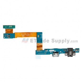 For Samsung Galaxy Tab A 9.7 SM-T550 Charging Port Flex Cable Ribbon with Earphone Jack Replacement (Wi-Fi Version) - Grade S+
