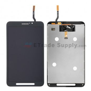 For Samsung Galaxy Tab Active SM-T360 LCD Screen and Digitizer Assembly Replacement - Black - With Logo - Grade S+