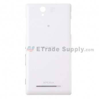 For Sony Xperia C3 Battery Door Replacement - White - Grade S+