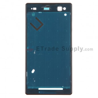 For Sony Xperia C3 Front Housing Replacement - Black - Grade S+