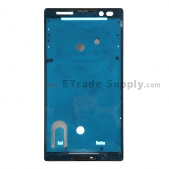 For Sony Xperia C S39h Front Housing Replacement - Black - Grade S+