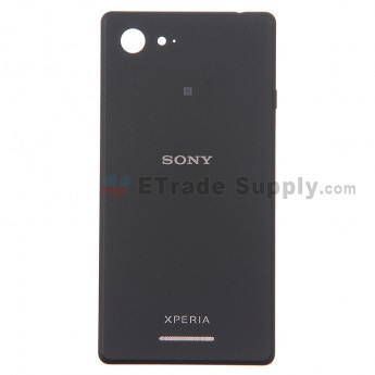 For Sony Xperia E3 Battery Door Replacement - Black - Grade S+
