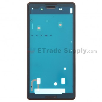 For Sony Xperia E3 Front Housing Replacement - Black - Grade S+