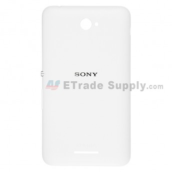 For Sony Xperia E4 Battery Door Replacement - White - Grade S+