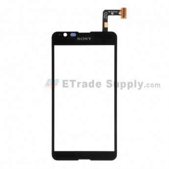 For Sony Xperia E4g Digitizer Touch Screen Replacement - Black - With Logo - Grade S+
