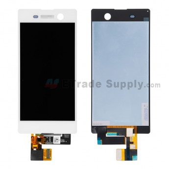 For Sony Xperia M5 LCD Screen and Digitizer Assembly Replacement - White - Grade S+