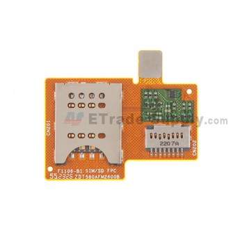 For Sony Xperia Miro ST23i SIM Card Reader Flex Cable Ribbon  Replacement - Grade S+