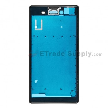 For Sony Xperia T3 Front Housing Replacement - Black - Grade S+