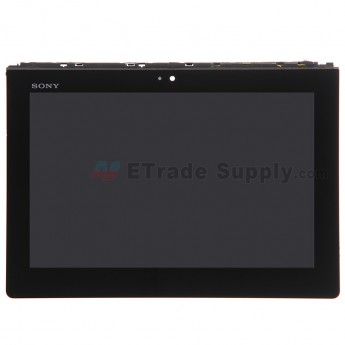 For Sony Tablet S SGPT113CN LCD Screen and Digitizer Assembly with Front Housing Replacement - Black - With Logo - Grade S+