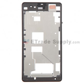For Sony Xperia Z1 Compact Front Housing Replacement - Black - Grade S+