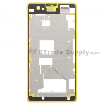 For Sony Xperia Z1 Compact Front Housing Replacement - Yellow - Grade S+