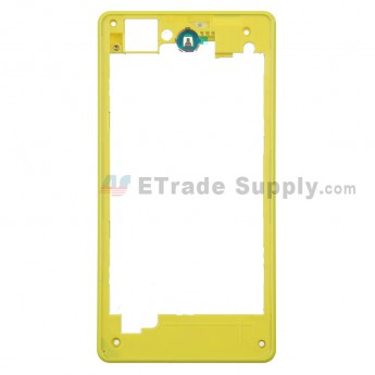 For Sony Xperia Z1 Compact Rear Housing Replacement - Yellow - Grade S+