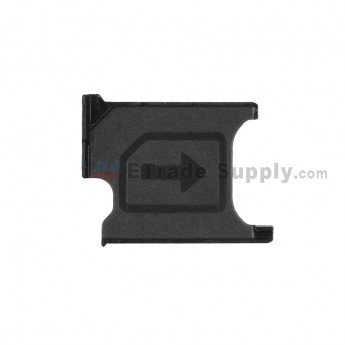 For Sony Xperia Z1 Compact SIM Card Tray Replacement - Black - Grade S+