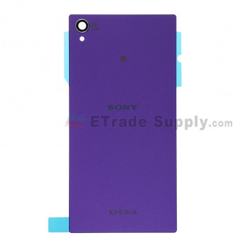 For Sony Xperia Z1 L39h Battery Door Replacement - Purple - With Logo - Grade S+