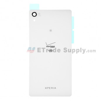 For Sony Xperia Z2 Battery Door Replacement - White - Grade S+