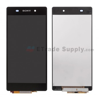 For Sony Xperia Z2 LCD Screen and Digitizer Assembly Replacement - Black - with Logo- Grade A
