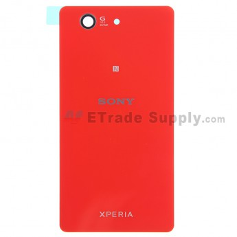 For Sony Xperia Z3 Compact Battery Door Replacement - Orange - Grade S+