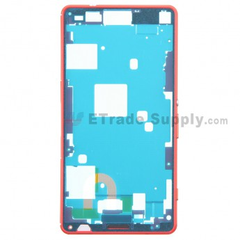 For Sony Xperia Z3 Compact Front Housing Replacement - Orange - Grade S+