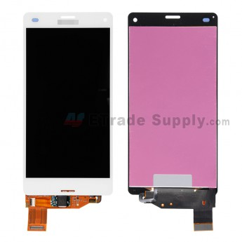 For Sony Xperia Z3 Compact LCD Screen and Digitizer Assembly Replacement - White - With Logo - Grade S