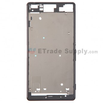 For Sony Xperia Z3 Front Housing Replacement - Black - Grade S+