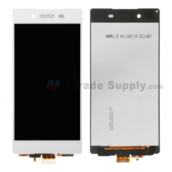 For Sony Xperia Z3+ LCD Screen and Digitizer Assembly Replacement  - White - With Logo - Grade S+