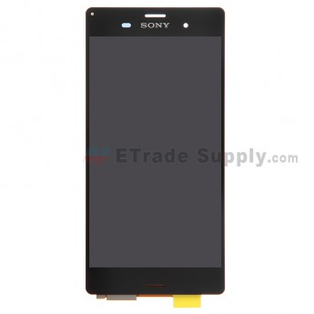 For Sony Xperia Z3 LCD Screen and Digitizer Assembly Replacement - Black - With Logo - Grade S