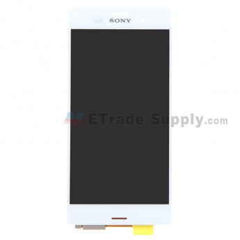 For Sony Xperia Z3 LCD Screen and Digitizer Assembly Replacement - White - With Logo - Grade S
