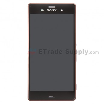 For Sony Xperia Z3 LCD Screen and Digitizer Assembly with Front Housing Replacement - Copper - With Logo - Grade A