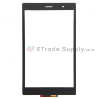 For Sony Xperia Z3 Tablet Compact Digitizer Touch Screen Replacement - Black - Grade S+