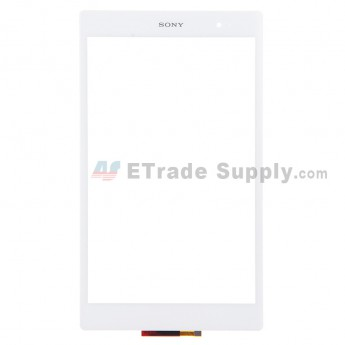 For Sony Xperia Z3 Tablet Compact Digitizer Touch Screen Replacement - White - Grade S+