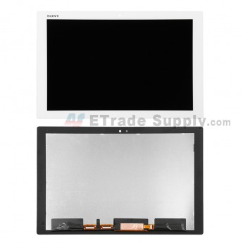 For Sony Xperia Z4 Tablet LCD Screen and Digitizer Assembly Replacement - White - With Logo - Grade S+