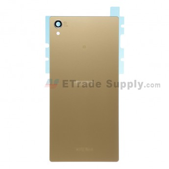 For Sony Xperia Z5 Premium Battery Door  Replacement - Gold - With Logo - Grade S+