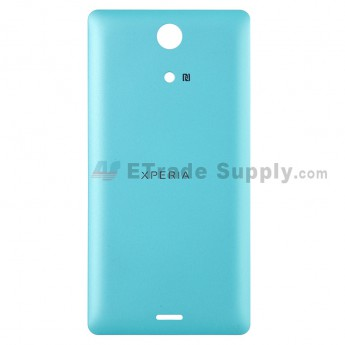 For Sony Xperia ZR M36h Battery Door Replacement - Green - With Logo - Grade S+