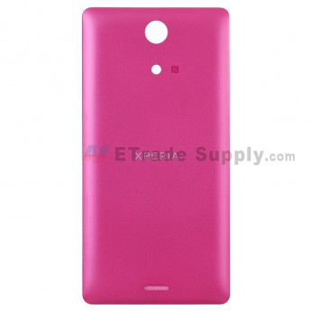 For Sony Xperia ZR M36h Battery Door Replacement - Red - Grade S+