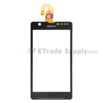 For Sony Xperia ZR M36h Digitizer Touch Screen Replacement - Black - Grade S+