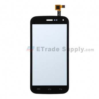 For Wiko Barry Digitizer Touch Screen Replacement - Black - Grade R