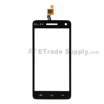 For Wiko Rainbow Digitizer Touch Screen Replacement - Black - Grade S+