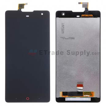 For ZTE Nubia Z7 Max LCD Screen and Digitizer Assembly Replacement - Black - Without Logo - Grade S+
