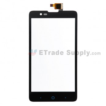 For ZTE Redbull V5 V9180 Digitizer Touch Screen  Replacement - Black - Without Logo - Grade S+