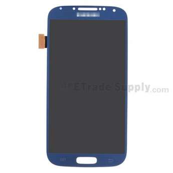 For Samsung Galaxy S4 GT-I9500/I9505/I545/L720/R970/I337/M919/I9502 LCD Screen and Digitizer Assembly Replacement - Sapphire - With Logo - Grade S+
