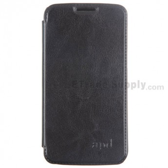 For Samsung Galaxy Grand 2 Series Flip Leather Case Replacement - Black - Grade R