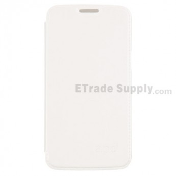 For Samsung Galaxy Grand 2 Series Flip Leather Case Replacement - White - Grade R