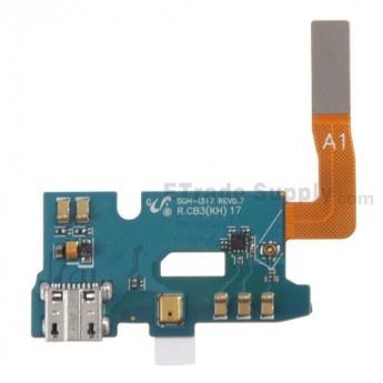 For Samsung Galaxy Note 2 SGH-i317 Charging Port Flex Cable Ribbon Replacement - Grade S+