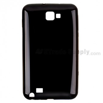 For Samsung Galaxy Note GT-N7000/GT-I9220 Silicone Case Replacement  - Black - Grade R