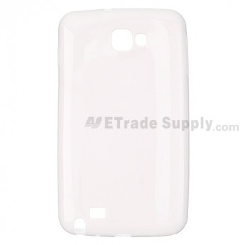 For Samsung Galaxy Note GT-N7000/GT-I9220 Silicone Case Replacement - White - Grade R