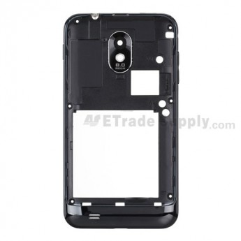 For Samsung Galaxy S II Epic 4G SPH-D710 Rear Housing Replacement - Black - Grade R