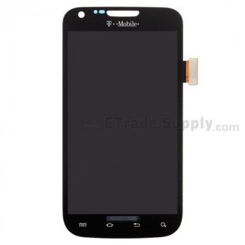 For Samsung Galaxy S II SGH-T989 LCD Screen and Digitizer Assembly Replacement - Black - With Logo - Grade S+